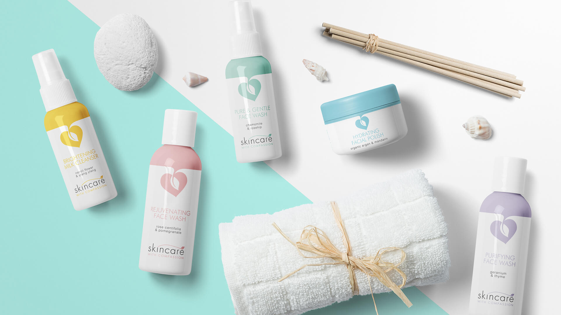Skincare With Compassion Branding Packaging Design